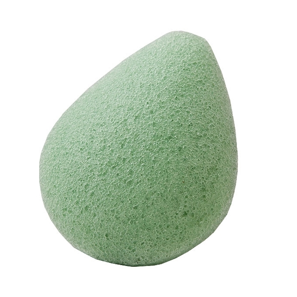 Konjac Sponge Face drop green / Спонж Конжак для лица с зеленым чаем / Чистка лица. уход за кожей лица. спонжик. спонж для лица